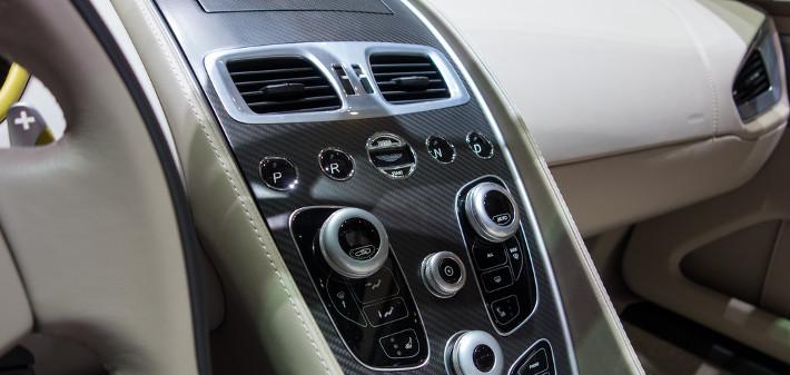 aston martin vanquish car leather interiors